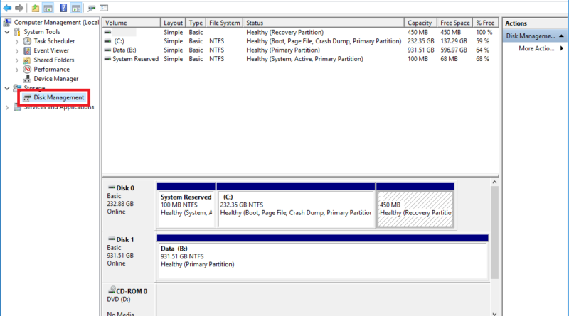 how to create a hard drive partition for recovery