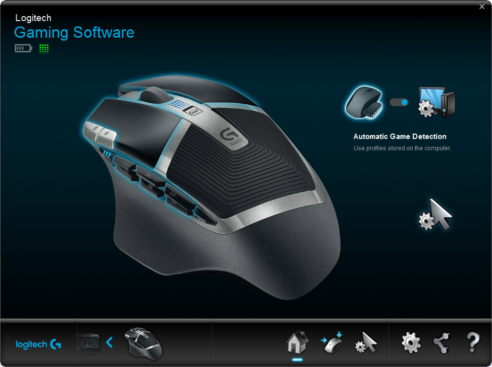 Logitech Gaming Software G602 Home
